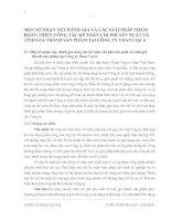 MỘT SỐ NHẬN XÉT ĐÁNH GIÁ VÀ CÁC GIẢI PHÁP NHẰM HOÀN THIỆN CÔNG TÁC KẾ TOÁN CHI PHÍ SẢN XUẤT VÀ TÍNH GIÁ THÀNH SẢN PHẨM TẠI CÔNG TY THAN CỌC 6