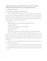 Thực trạng công tác tổ chức kế toán NVL ,CCDC tại công ty TNHH nhà nước một thành viên Cơ Khí Quang Trung