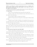NHỮNG GIẢI PHÁP VÀ KIẾN NGHỊ NHẰM NÂNG CAO HIỆU QUẢ HOẠT ĐỘNG KINH DOANH NHẬP KHẨU TẠI CÔNG TY VẬT TƯ  KỸ THUẬT NGÂN HÀNG.