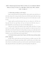 THỰC TRẠNG HẠCH TOÁN TIỀN LƯƠNG VÀ CÁC KHOẢN TRÍCH THEO LƯƠNG Ở CÔNG TY CHẾ BIẾN NÔNG SẢN THỰC PHẨM XNK - NGHỆ AN