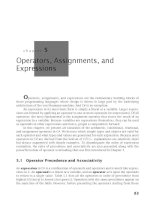 Operators, Assignments, and Expressions