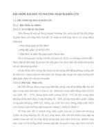 ĐẶC ĐIỂM  ĐỊA BÀN  VÀ PHƯƠNG PHÁP NGHIÊN CỨU