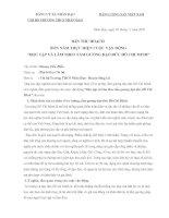Bài thu hoạch TK 4 năm thực hiện cuộc vận động học tập và làm theo tấm gương đậo đứca Hồ Chí Minh năm 2010