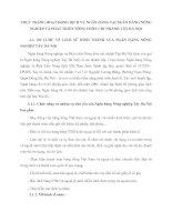 THỰC TRẠNG HOẠT ĐỘNG DỊCH VỤ NGÂN HÀNG TẠI NGÂN HÀNG NÔNG NGHIỆP VÀ PHÁT TRIỂN NÔNG THÔN CHI NHÁNH TÂY HÀ NỘI