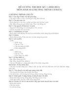 đề cương ôn tập thi học kỳ 1- sinh 10