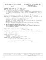Đề thi Học kì 1 Toán 12 - Đề số 8