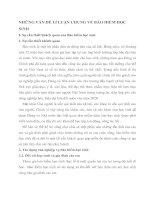 NHỮNG VẤN ĐỀ LÍ LUẬN CHUNG VỀ BẢO HIỂM HỌC SINH