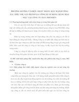 PHƯƠNG HƯỚNG VÀ BIỆN  PHÁP  NHẰM  ĐẨY MẠNH CÔNG TÁC TIÊU THỤ SẢN PHẨM GIA CÔNG XUẤT KHẨU HÀNG MAY MẶC TẠI CÔNG TY MAY PHỐ HIẾN
