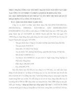THỰC TRẠNG CÔNG TÁC TỔ CHỨC HẠCH TOÁN NGUYÊN VẬT LIỆU TẠI CÔNG TY CƠ NHIỆT VÀ ĐIỆN LẠNH BÁCH KHOA HÀ NỘI