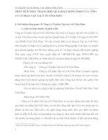 PHÂN TÍCH THỰC TRẠNG HIỆU QUẢ HOẠT ĐỘNG SXKD CỦA CÔNG TY CỔ PHẦN VẬN TẢI Ô TÔ VĨNH PHÚC