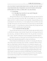 CÁC GIẢI PHÁP VÀ KIẾN NGHỊ NHẰM NÂNG CAO HIỆU QUẢ QUY TRÌNH GIAO NHẬN HÀNG HÓA  NHẬP KHẨU VẬN CHUYỂN BẰNG CONTAINER ĐƯỜNG BIỂN TẠI  CÔNG TY TNHH  TIẾP  VẬN  HOA THANH