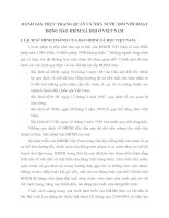 ĐÁNH GIÁ THỰC TRẠNG QUẢN LÝ NHÀ NƯỚC ĐỐI VỚI HOẠT ĐỘNG BẢO HIỂM XÃ HỘI Ở VIỆT NAM