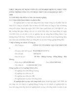 THỰC TRẠNG SỬ DỤNG VỐN CỦA XÍ NGHIỆP DỊCH VỤ TRỤC VỚT CÔNG TRÌNH CÔNG TY CỔ PHẦN THUỶ SỐ 4 GIAI ĐOẠN 2007