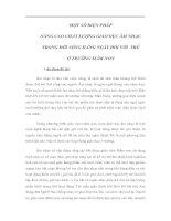 MỘT SỐ BIỆN PHÁP NÂNG CAO CHẤT LƯỢNG GIÁO DỤC ÂM NHẠC TRONG ĐỜI SỐNG HẰNG NGÀY ĐỐI VỚI TRẺ Ở