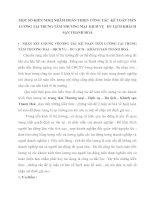 MỘT SỐ KIẾN NHGỊ NHĂM HOÀN THIỆN CÔNG TÁC  KẾ TOÁN TIỀN LƯƠNG TẠI TRUNG TÂM THƯƠNG MẠI  DỊCH VỤ   DU LỊCH KHÁCH SẠN THANH HOÁ