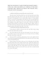 MỘT SỐ GIẢI PHÁP VÀ KIẾN NGHỊ NHẰM HOÀN THIỆN CÔNG TÁC CHUẨN BỊ NHÂN LỰC CHO DỰ ÁN NHÀ MÁY CHẾ BIẾN THỰC PHẨM XUẤT KHẨU NHƯ THANH - DÂY CHUYỀN NƯỚC GIẢI KHÁT
