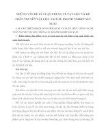 NHỮNG VẤN ĐỀ LÝ LUẬN CHUNG VỀ VẬT LIỆU VÀ KẾ TOÁN NGUYÊN VẬT LIỆU TẠI CÁC DOANH NGHIỆP SẢN XUẤT