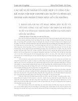 CÁC ĐỀ XUẤT NHẰM TỔ CHỨC HỢP LÝ CÔNG TÁC KẾ TOÁN TẬP HỢP CHI PHÍ SẢN XUẤT VÀ TÍNH GIÁ THÀNH SẢN PHẨM Ở NHÀ MÁY GỖ CẦU ĐUỐNG