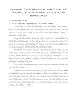 THỰC TRẠNG CÔNG TÁC TỔ CHỨC KINH DOANH LỮ HÀNH QUỐC TẾ BỊ ĐỘNG CỦA CHI NHÁNH CÔNG TY DỊCH VỤ DU LỊCH BẾN THÀNH TẠI HÀ NỘI