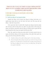 TÍNH TẤT YẾU VÀ SỰ CẦN THIẾT CỦA QUÁ TRÌNH CHUYỂN DỊCH CƠ CẤU LAO ĐỘNG THEO NGÀNH THEO HƯỚNG CÔNG NGHIỆP HOÁ