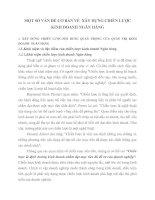 MỘT SỐ VẤN ĐỀ CƠ BẢN VỀ  XÂY DỰNG CHIẾN LƯỢC KINH DOANH NGÂN HÀNG