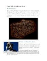 Những bí ẩn lớn nhất trong lịch sử