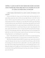 NHỮNG LÝ LUẬN CƠ BẢN VỀ HOẠT ĐỘNG KINH DOANH CỦA NGÂN HÀNG THƯƠNG MẠI TRONG NỀN KINH TẾ THỊ TRƯỜNG VÀ CƠ CHẾ TÀI CHÍNH CỦA NGÂN HÀNG THƯƠNG MẠI