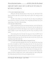 MỘT SỐ Ý KIẾN NHẬN XÉT VÀ ĐỀ XUẤT VỀ CÔNG TY KẾ TOÁN TẠI ĐƠN VỊ