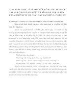 TÌNH HÌNH THỰC TẾ VỀ TỔ CHỨC CÔNG TÁC KẾ TOÁN TẬP HỢP CHI PHÍ SẢN XUẤT VÀ TÍNH GIÁ THÀNH SẢN PHẨM Ở CÔNG TY CỔ PHẦN XÂY LẮP ĐIỆN 3.4 NGHỆ AN