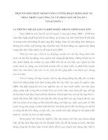 MỘT SỐ GIẢI PHÁP NHẰM TĂNG CƯỜNG HOẠT ĐỘNG ĐẦU TƯ PHÁT TRIỂN TẠI CÔNG TY CỔ PHẦN XÂY DỰNG SỐ 1 VINACONEX 1