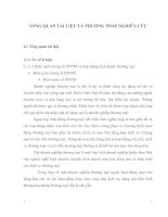 TỔNG QUAN TÀI LIỆU VÀ PHƯƠNG PHẤP NGHIÊN CỨU