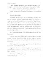 MỘT SỐ GIẢI PHÁP KIẾN NGHỊ NHẰM NÂNG CAO CHẤT LƯỢNG CHO VAY DỰ ÁN ĐẦU TƯ TẠI SỞ GIAO DỊCH 1 NGÂN HÀNG ĐẦU TƯ VÀ PHÁT TRIỂN VIỆT NAM