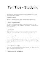 Ten Tips - Studying
