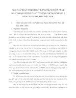 GIẢI PHÁP HOÀN THIỆN HOẠT ĐỘNG THANH TOÁN XUẤT KHẨU BẰNG PHƯƠNG PHÁP TÍN DỤNG CHỨNG TỪ Ở NGÂN HÀNG NGOẠI THƯƠNG VIỆT NAM