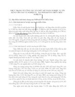 THỰC TRẠNG VỀ CÔNG TÁC TỔ CHỨC KẾ TOÁN NGHIỆP  VỤ TÍN DỤNG CHO VAY VÀ NGHIỆP VỤ  TẠI NHNO