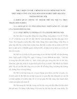 THỰC HIỆN CƠ CHẾ  CHÍNH SÁCH TÀI CHÍNH NHÀ NƯỚC THỰC HIỆN CÔNG TÁC XOÁ ĐÓI GIẢM NGHÈO TRÊN ĐỊA BÀN THÀNH PHỐ HÀ NÔỊ