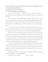 THỰC TRẠNG HIỆU QUẢ SỬ DỤNG TSCĐ TẠI CÔNG TY CỔ PHẦN VẬN TẢI VÀ THƯƠNG MẠI HẢI PHÒNG