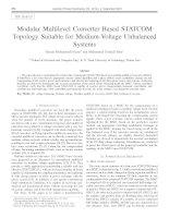 Điện tử công suât mạch MMC  Modular multilevel converter based STATCOM topology suitable for medium voltage unbalanced systems