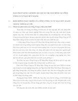 GIẢI PHÁP NÂNG CAO HIỆU QUẢ QUẢN TRỊ TÀI CHÍNH TẠI TỔNG CÔNG TY CP MAY ĐỨC GIANG