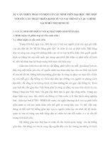 SỰ CẦN THIẾT PHẢI CÓ MỘT CƠ CẤU SINH VIÊN ĐẠI HỌC PHÙ HỢP VỚI YÊU CẦU PHÁT TRIỂN KINH TẾ VÀ VAI TRÒ CỦA CÁC CHÍNH SÁCH HỖ TRỢ KINH TẾ