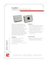TrueNet® CopperTen™ Six-Port Surface Mount Box
