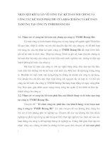 NHẬN XÉT KẾT LUẬN VỀ CÔNG TÁC KẾ TOÁN NÓI CHUNG VÀ CÔNG TÁC KẾ TOÁN PHẢI THU CỦA KHÁCH HÀNG VÀ KẾ TOÁN TẠM ỨNG TẠI CÔNG TY TNHH HOÀNG HÀ