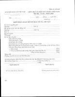 Mẫu biên bản giao hồ sơ báo tử và di vật