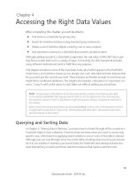 Accessing the Right Data Values