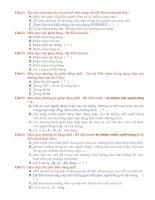 Câu hỏi trắc nghiệm chương 2- Tin học 10