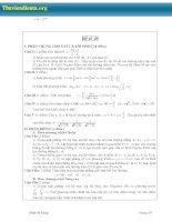 Đề ôn thi đại học môn Toán Phần 4