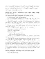 THỰC TRẠNG KẾ TOÁN BÁN HÀNG VÀ XÁC ĐỊNH KẾT QUẢ KINH DOANH TẠI CHI NHÁNH CÔNG TY CỔ PHẦN XNK TỔNG HỢP I VIỆT NAM – XÍ NGHIỆP MAY HP
