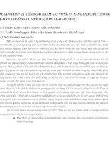 CÁC GIẢI PHÁP VÀ KIẾN NGHỊ NHẰM GIỮ VỮNG VÀ NÂNG CAO CHẤT LƯỢNG DỊCH VỤ TẠI CÔNG TY KHÁCH SẠN DU LỊCH LIM LIÊN