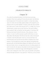 LUYỆN ĐỌC TIẾNG ANH QUA TÁC PHẨM VĂN HỌC-JANE EYRE CHARLOTTE BRONTE Chapter 25