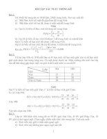 Bài tập xác suất của Biến cố